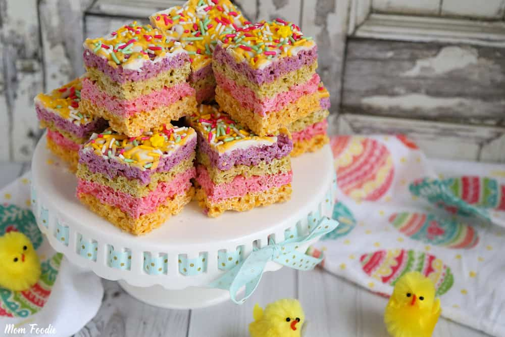 Easter Rice Krispie Treats recipe - Pastel chocolate bars