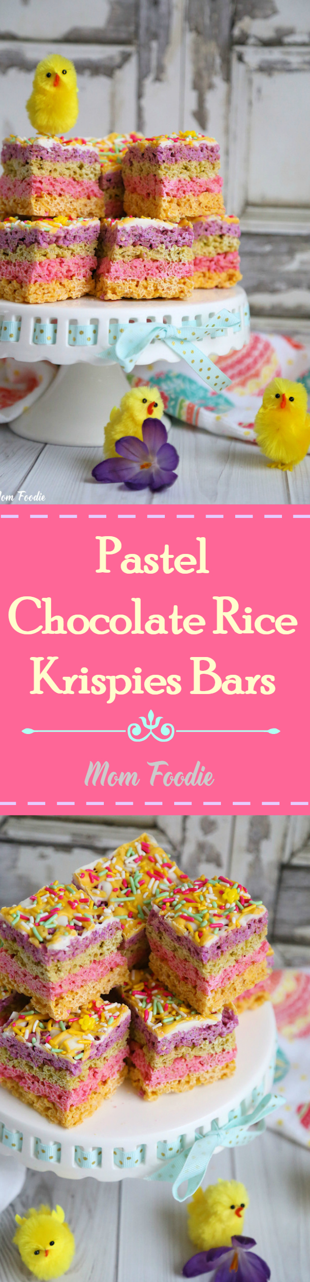 Easter Rice Krispies Treats - Pretty yet easy treat to make for Easter!