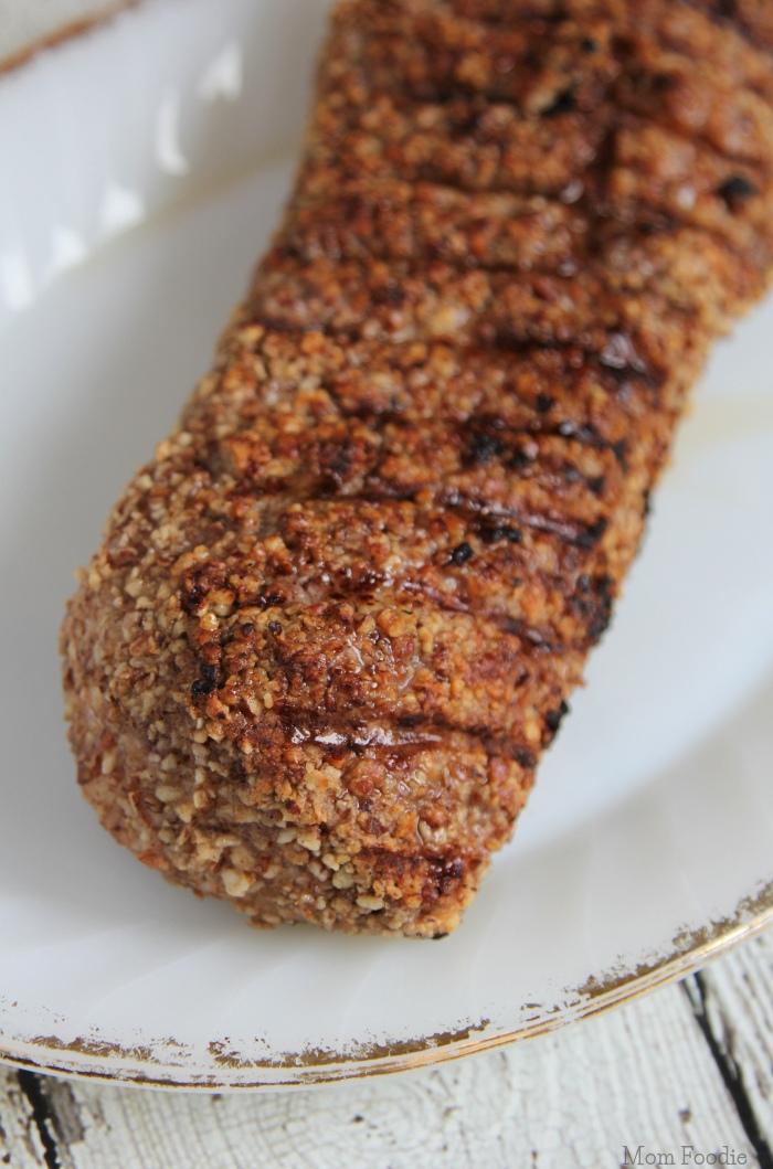 Pecan Crusted Pork Tenderloin grilled