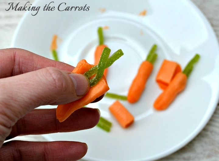 Peeps Pudding Cups - Making the Carrots