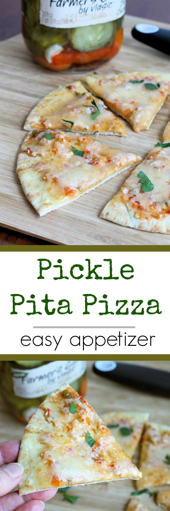 Pickle Pita Pizza