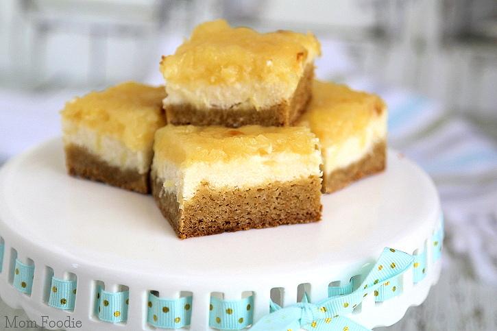 Pineapple Cheesecake Blondies Bars Recipe