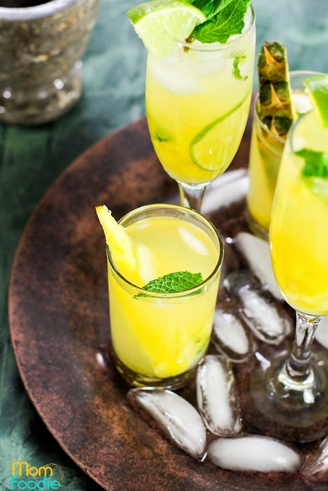 Pineapple Mojito Cocktail
