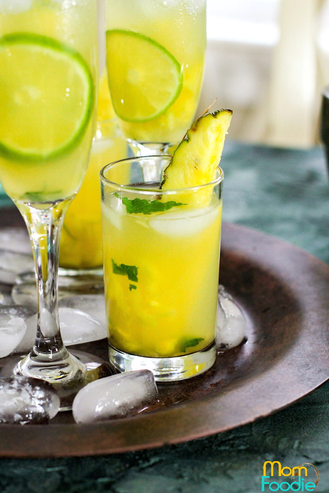 Pineapple Mojito drink