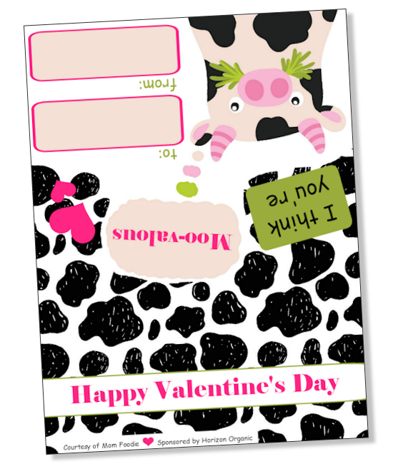 Printable Cow Valentine
