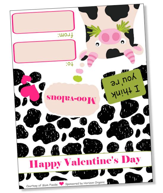 Printable Cow Valentine