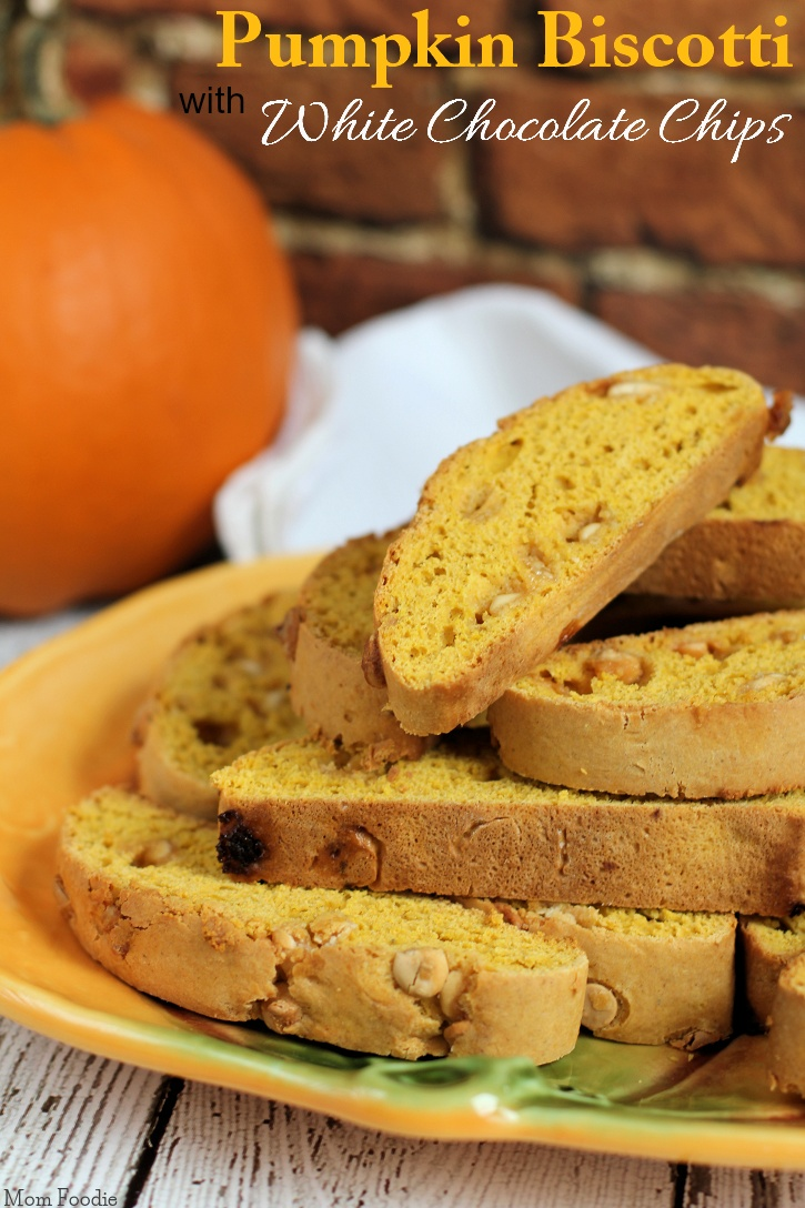 Pumpkin Biscotti Recipe with White Chocolate Chips