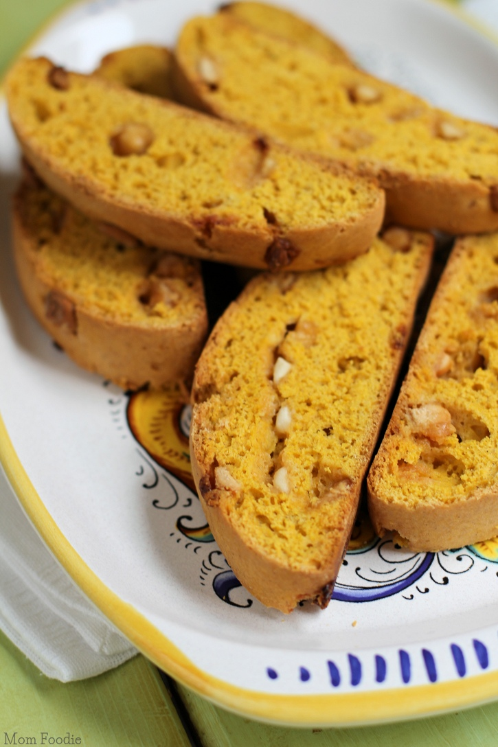 Pumpkin Biscotti Recipe with White Chocolate Chips - Mom Foodie