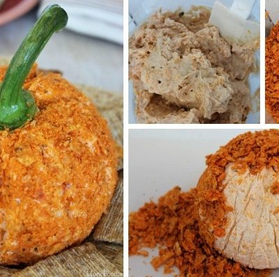 Festive Pumpkin Cheese Ball | Easy Fall Appetizer Recipe