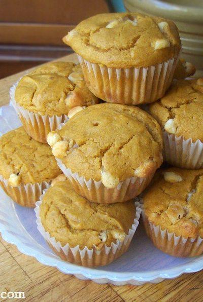Pumpkin White Chocolate Muffins Recipe