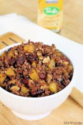 Quinoa with golden beet and cranberry
