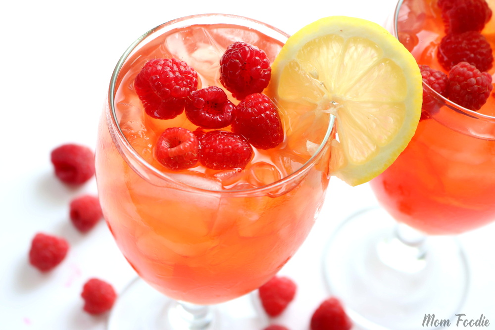 Ice tea with Raspberries