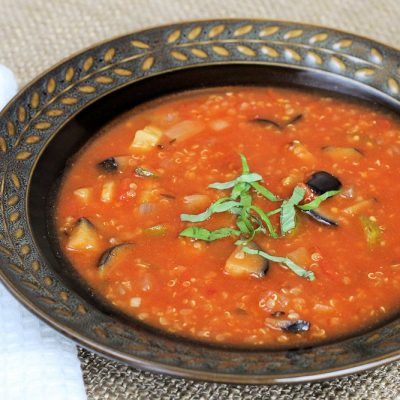 Ratatouille Quinoa Soup Recipe: A Quick Nourishing Soup Under 100 Calories
