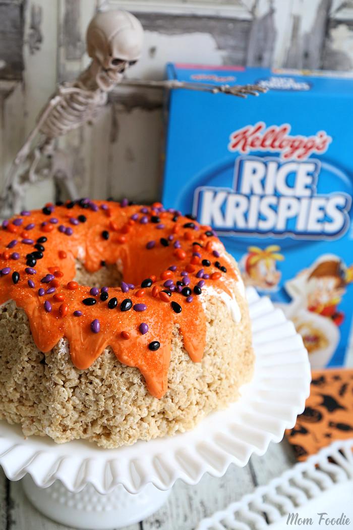 Rice Krispies Halloween Bundt Cake