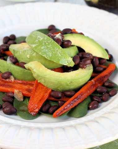 Roasted Carrot, Avocado & Black Bean Salad