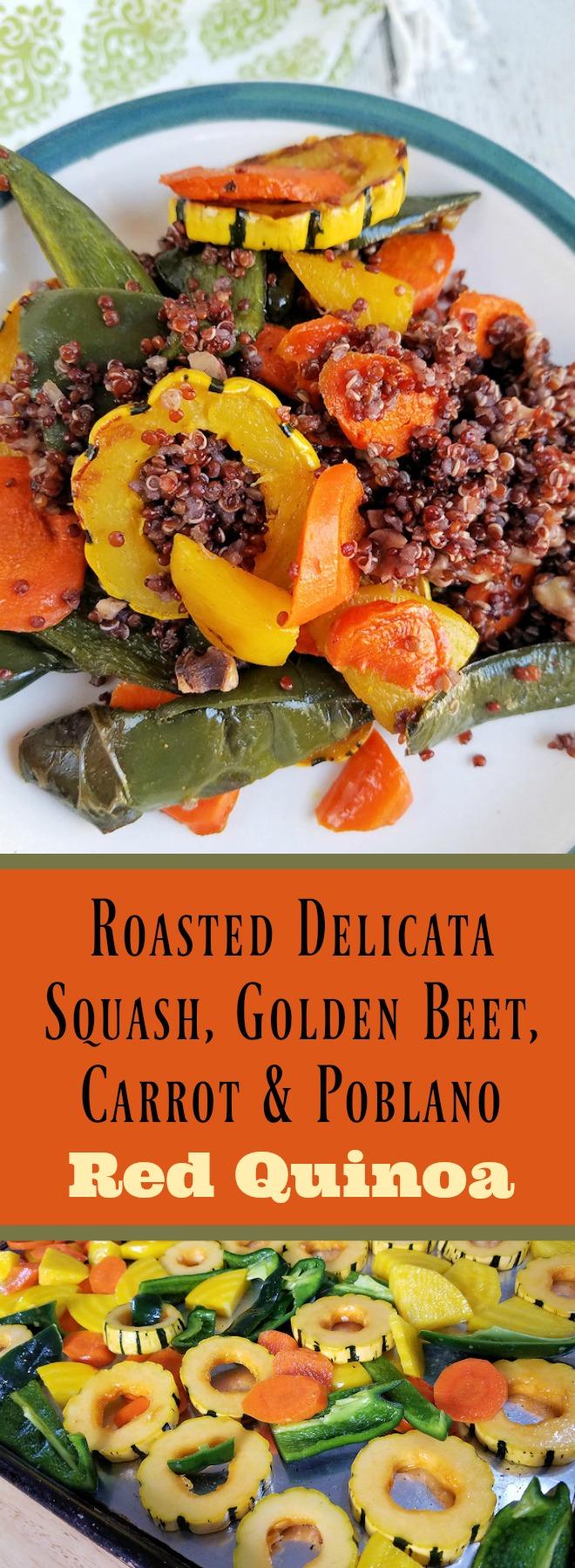 Roasted Delicata Squash, Golden Beet, Carrot & Poblano Red Quinoa Recipe
