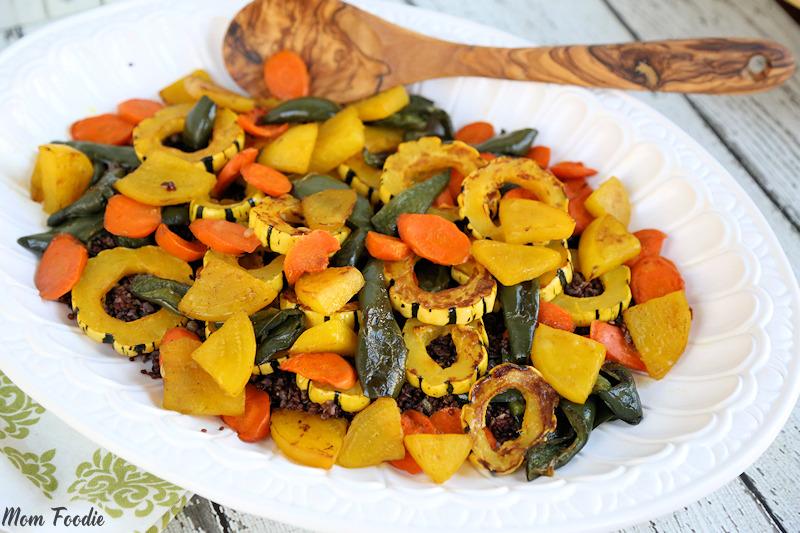 Roasted Delicata Squash, Golden Beet, Carrot & Poblano Red Quinoa