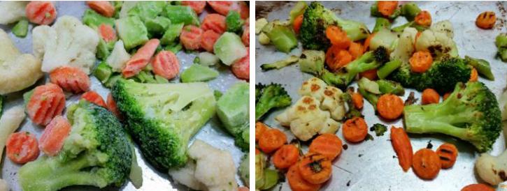 Roasting Frozen Vegetables