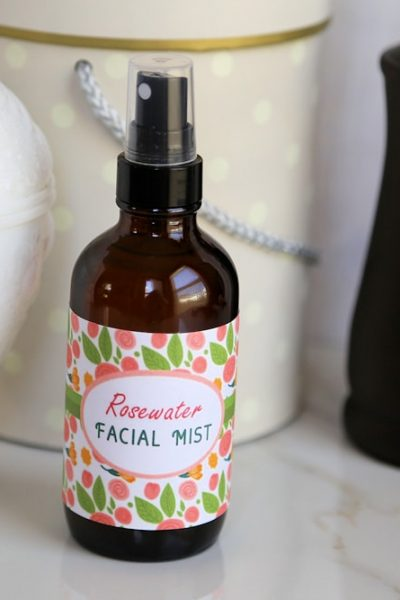 Rosewater Facial Mist Recipe and Free Printable Labels