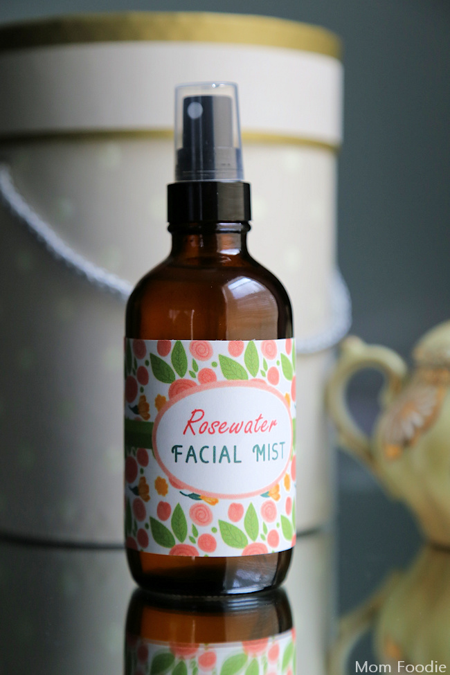 Rosewater Facial Mist - Recipe & Free Printable Label