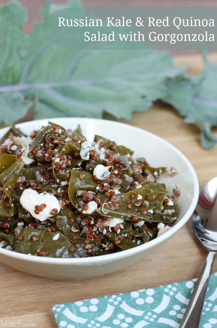 Russian Kale and Red Quinoa Salad with Gorgonzola