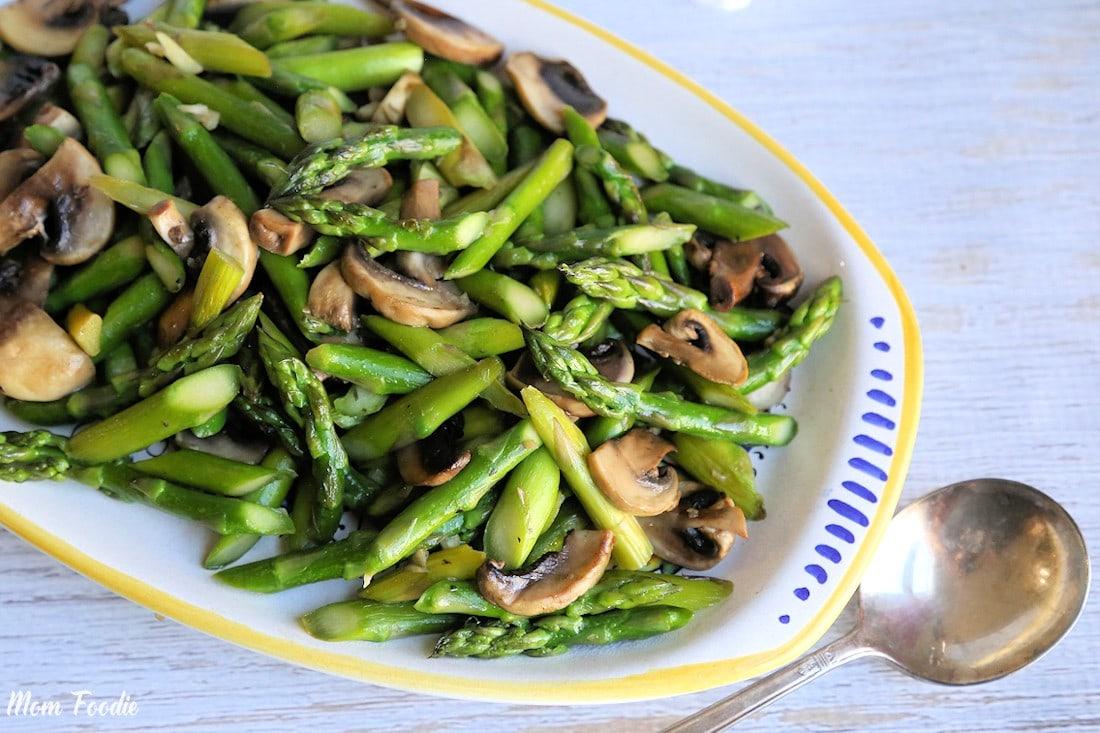 Sauteed Asparagus And Mushrooms Mom Foodie