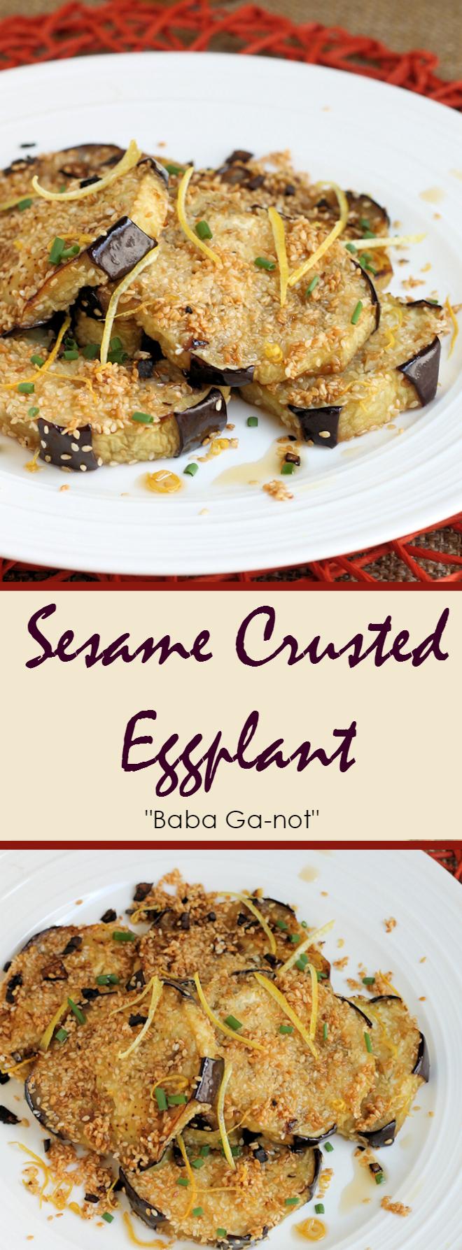 Sesame Crusted Eggplant