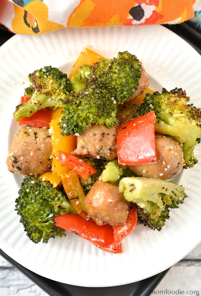 Sheet Pan Sausage and Vegetables recipe keto