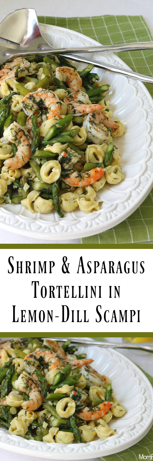 Shrimp & Asparagus Tortellini in Lemon-Dill Scampi