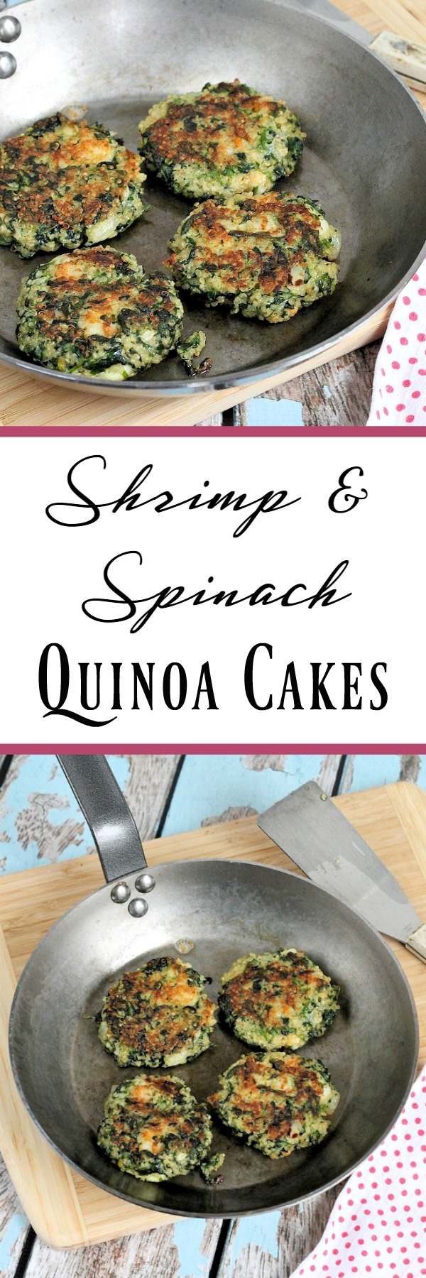 Shrimp & Spinach Quinoa Cakes