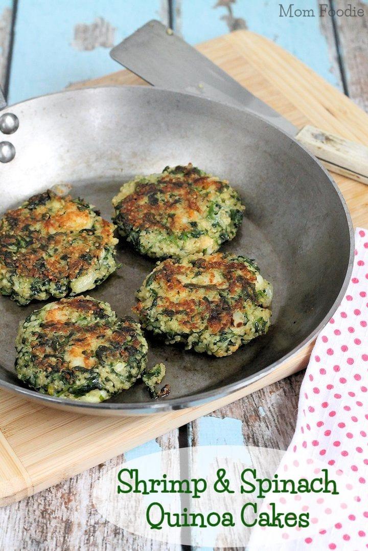 Shrimp Amp Spinach Quinoa Cakes Recipe Mom Foodie