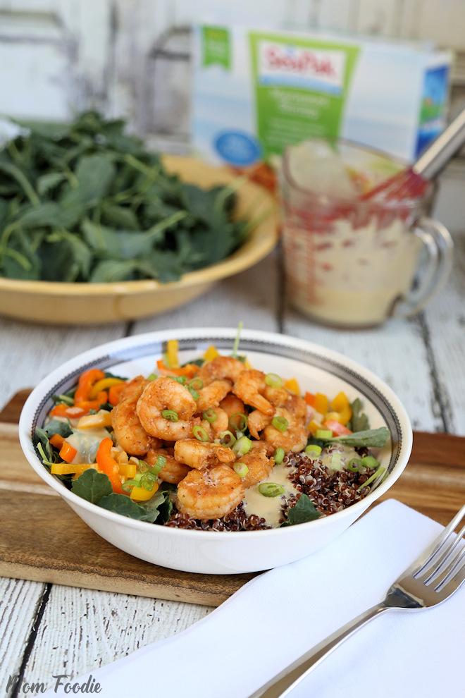 Shrimp quinoa bowl