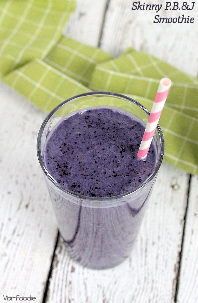 Skinny PB&J Smoothie dairy-free vegan lowfat