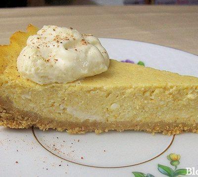 Light Pumpkin Ricotta Pie Recipe