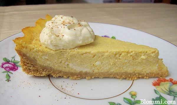 Skinny Pumpkin Ricotta Pie