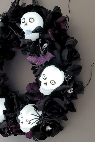 Skulls and Roses Wreath