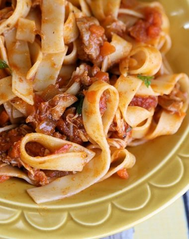 Slow Cooker Chicken Thighs Bolognese