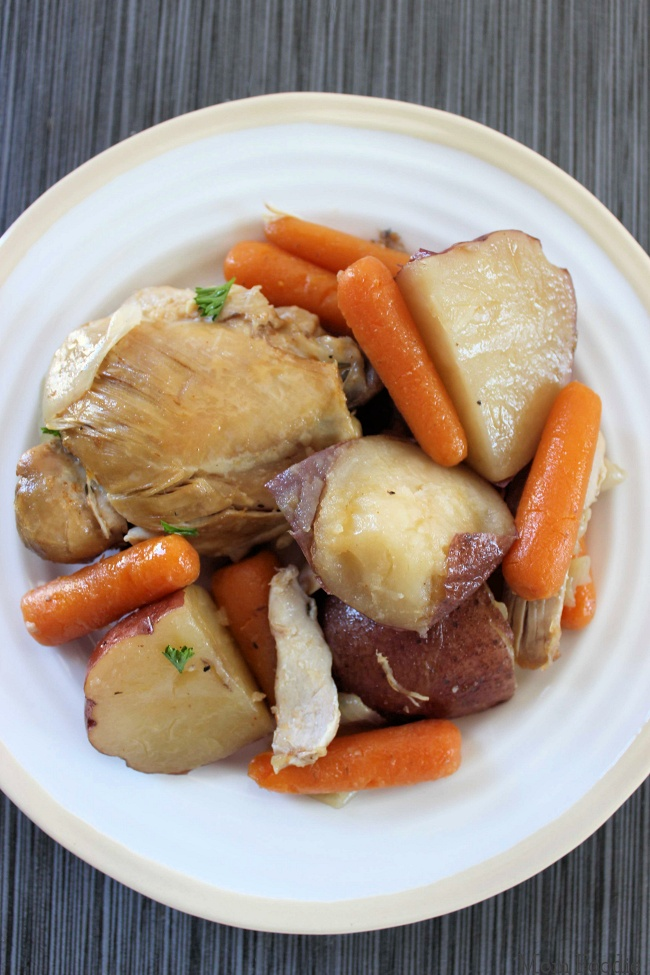 Slow Cooker Chicken Thighs with Potatoes and Carrots
