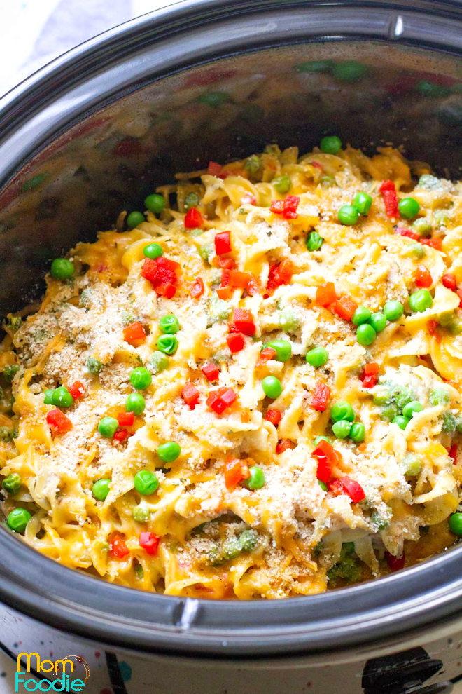 Slow Cooker Tuna Noodle Casserole