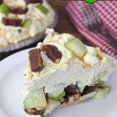 Snickers Caramel Apple Pie | Easy No Bake Dessert Recipe