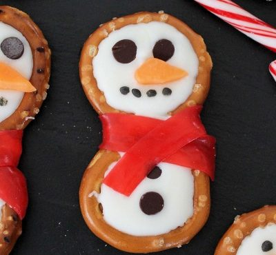 Snowman Pretzels | Easy Cute Holiday Treats