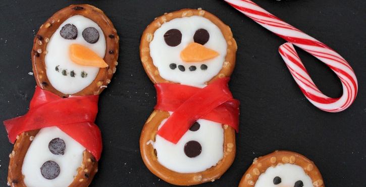 Snowman Pretzels