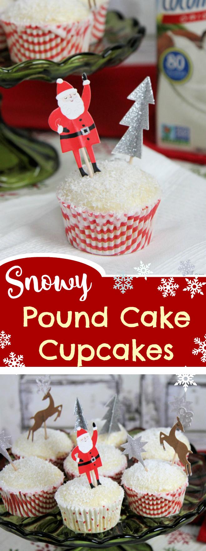 Snowy Coconut Poundcake Cupcakes