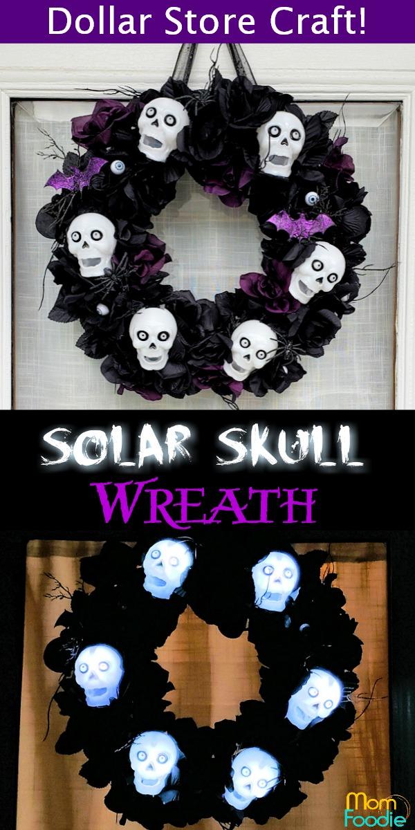Solar Skull Halloween Wreath
