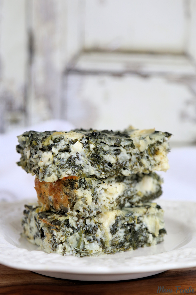 Low Carb Spanakopita Cottage Cheese Casserole
