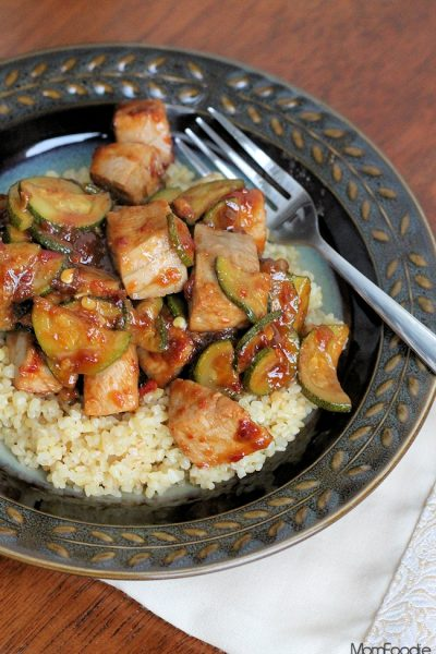 Spicy Orange Tuna with Zucchini Stir Fry Recipe