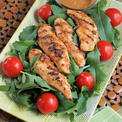 Spicy Peanut-Lime Grilled Chicken Salad Recipe