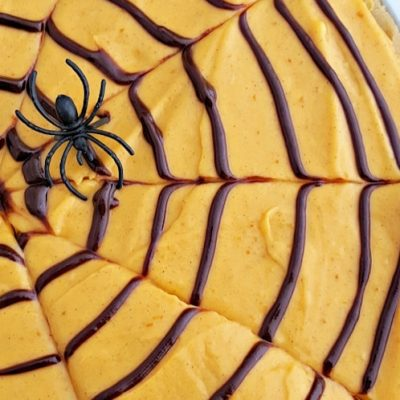 Spider Web Cookie Pizza with Pumpkin Spice Frosting : Halloween Party Food