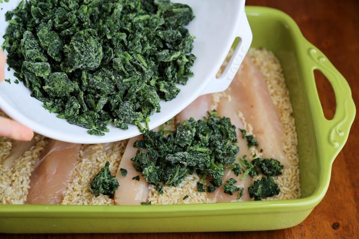 Spinach Chicken Rice casserole 3