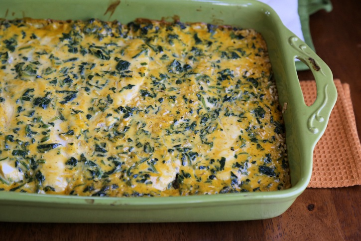 Spinach Chicken Rice casserole 7